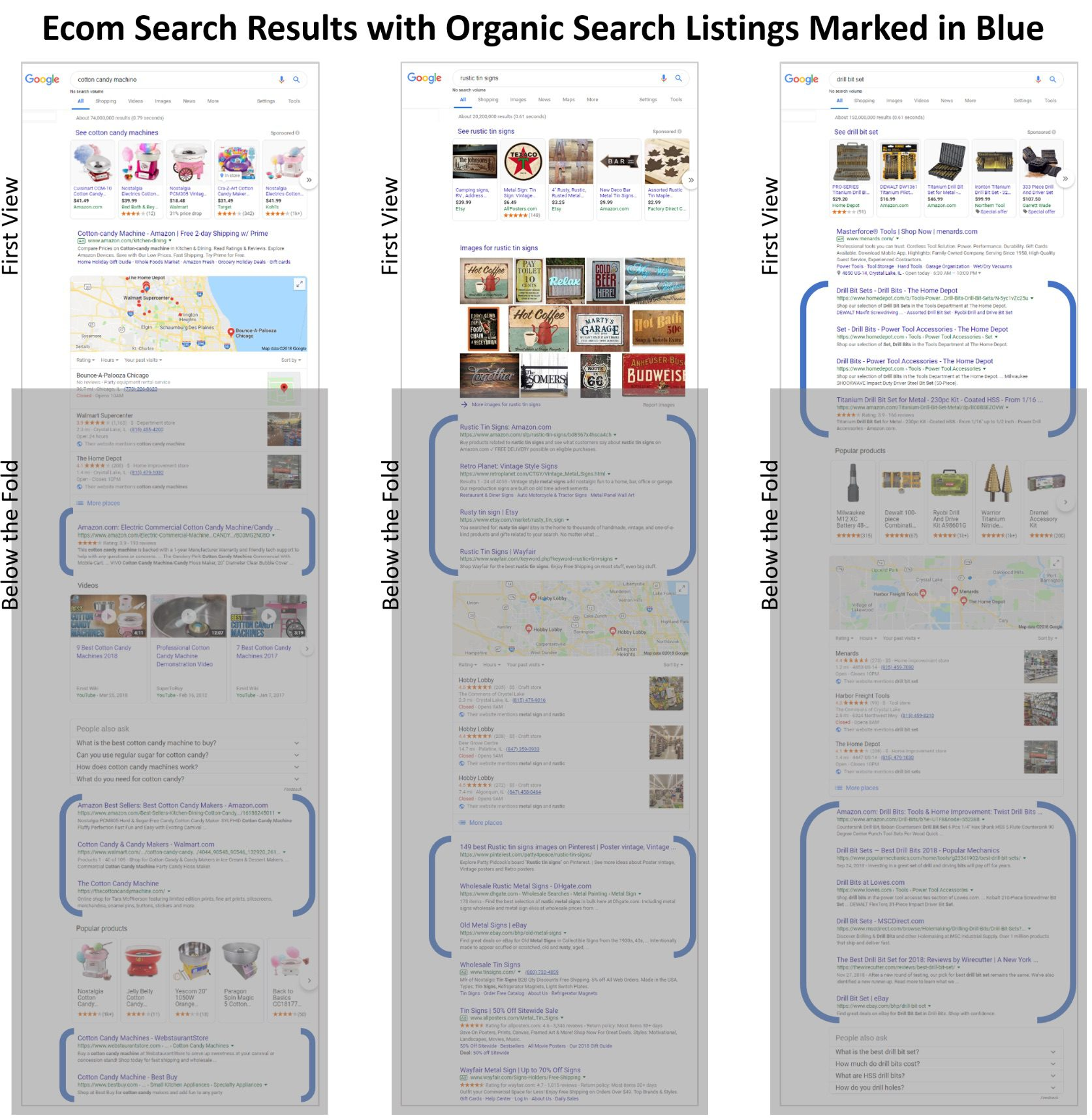 Traditional desktop search is changing, too. Search results produce more ads, images, and videos. <em>Click image to enlarge.</em>