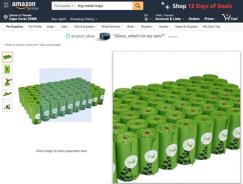 Amazon's product image requirements leave room for zooming on desktop and mobile