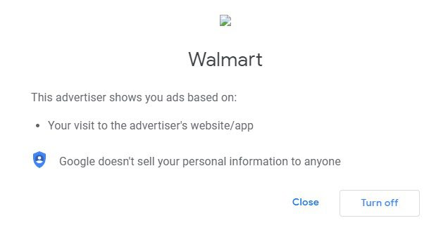 The author visited Walmart.com, which then placed a cookie in his browser.