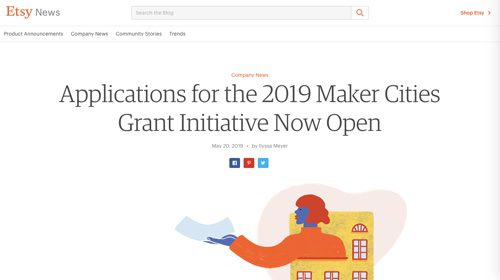 Etsy's 2019 Maker Cities Grant Initiative