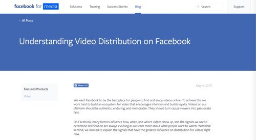 "Facebook's ""Understanding Video Distribution on Facebook."""