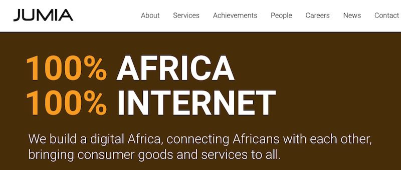 Jumia operates an online marketplace in 14 African countries. It went public in April, raising $196 million.