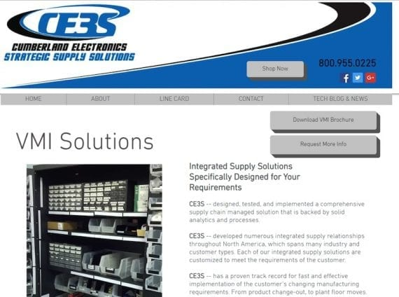 "Cumberland Electronics offers ""vendor managed inventory"" solutions."