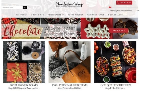 Quality photography can help enhance emails and encourage orders. Image: Charleston Wrap.