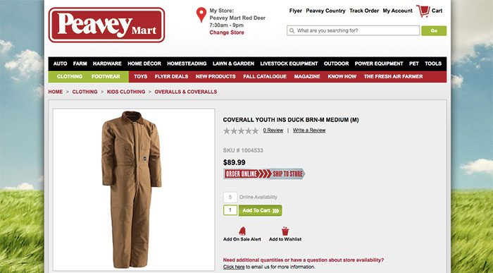 Peavey Marts duck cloth overalls may be manufactured by the same factory as Carhartt, a prominent brand.