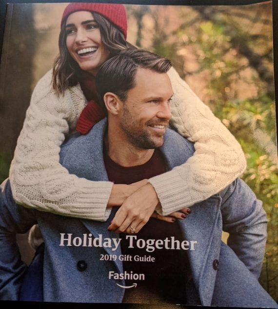 """Amazon's 2019 printed gift catalog is titled """"Holiday Together."""""""
