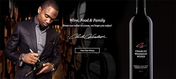 Charles Woodson's wine company is an example of how an online business can connect its products to sporting events.