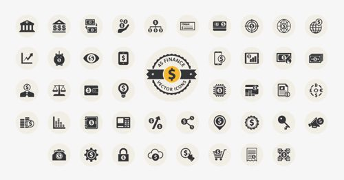 45 Finance Vector Icons