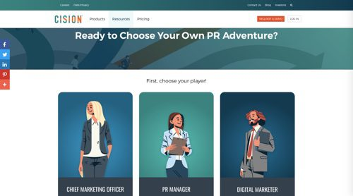 Cision's Choose Your Own PR Adventure.""