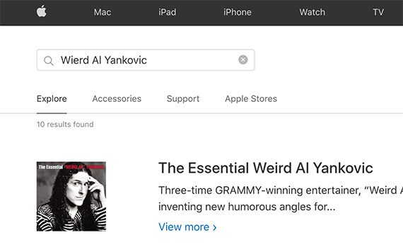 """The 2020 misspelled term test, included more than 60 queries. These queries differed by site. Only on Apple.com, for example, did the author test """"Wierd Al Yankovic."""""""