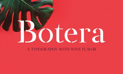 Botera Free Commercial Fonts for 2020