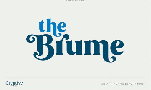 Brume Free Commercial Fonts for 2020