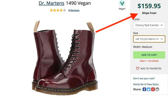 Dr-martens free-shipping example