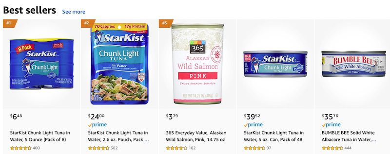 Amazon offers many grocery items on its marketplace. The selling requirements are stringent but worth it for many food brands.