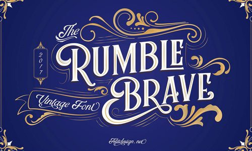 Rumble Brave Free Commercial Fonts for 2020