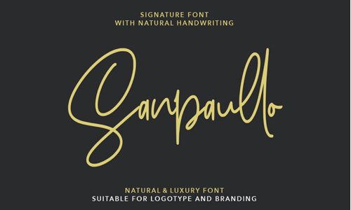 Sanpaullo Free Commercial Fonts for 2020