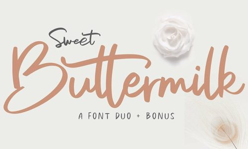 Sweet Buttermilk Free Commercial Fonts for 2020