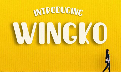 Wingko Free Commercial Fonts for 2020