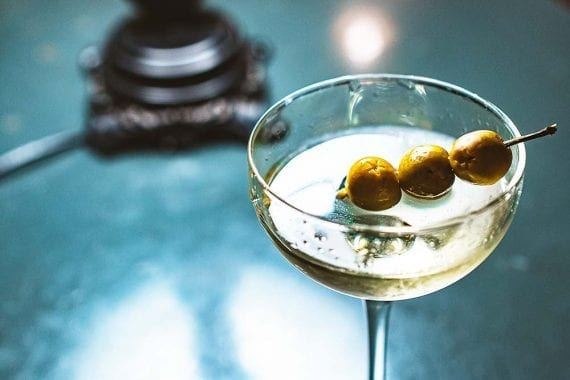 A martini with three olives would be a good way to celebrate Martini Day. <em>Photo: Stanislav Ivanitskiy.</em>
