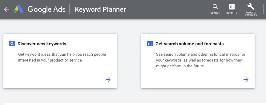 Google Ads Keyword Planner is a free research tool. You'll need an active Google Ads campaign to access it, however.