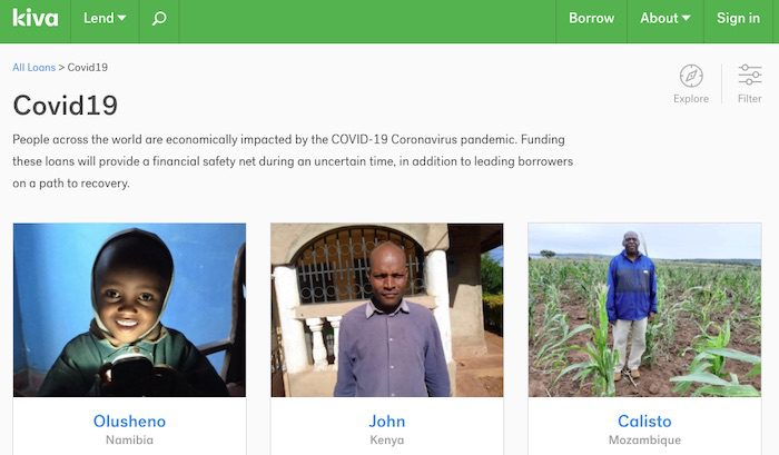 Kiva is now making direct loans to help small businesses in the U.S. and worldwide get through the Covid-19 crisis.