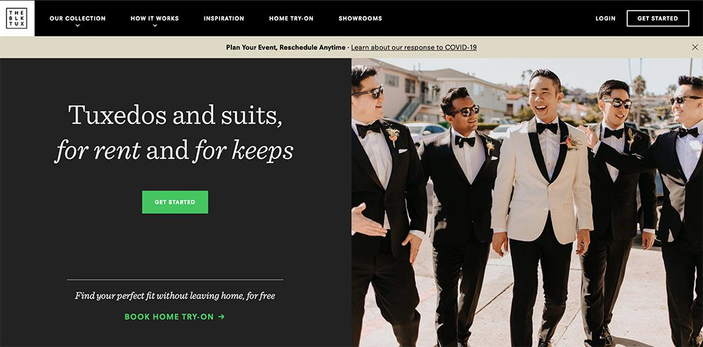 The Black Tux's home page