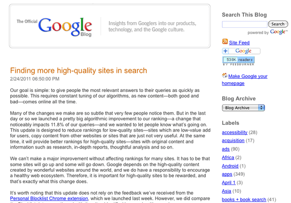 The Official Google Blog.