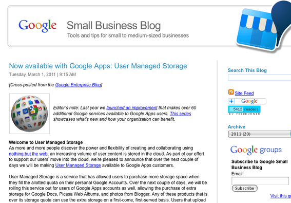 Small Business Blog.