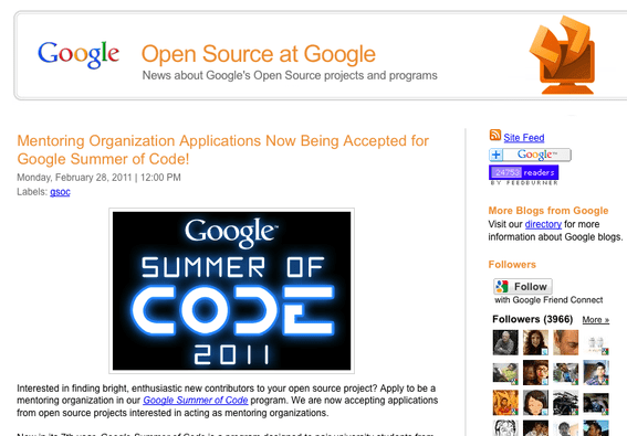 Open Source at Google.