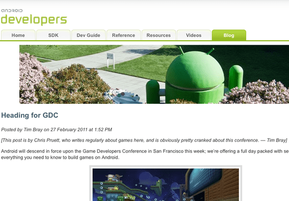 Android Developers Blog.