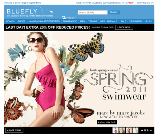 The Bluefly site will begin to offer a game-like experience to shoppers.