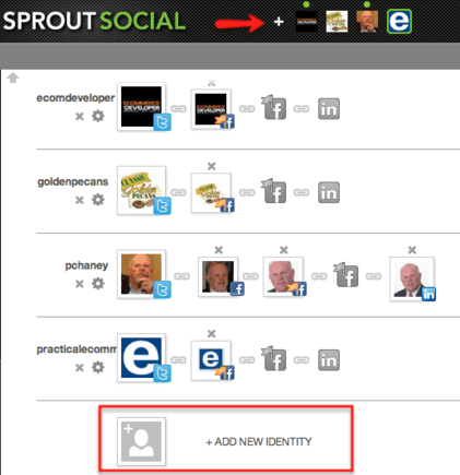 Sprout Social walks users through the process of setting up a new account.