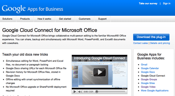 Cloud Connect for Microsoft Office.