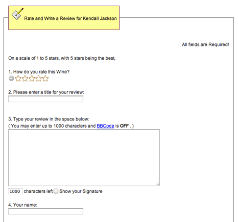 Step three brings users to a form where they can submit a review.