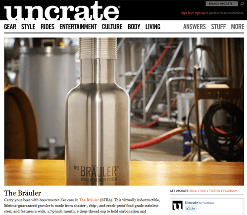 Uncrate often uses product images the full width of the page.