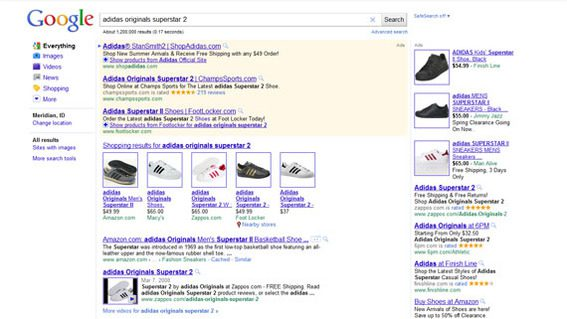 Zappos videos perform well in a search for specific shoes.
