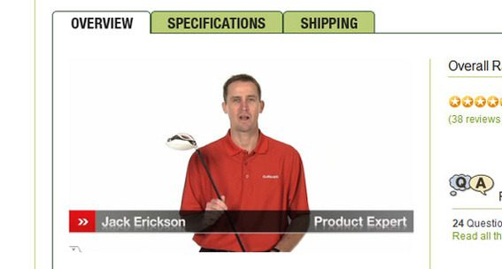 Golfsmith introduces shoppers to new golf clubs in video.