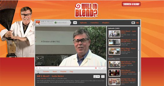Blendtec's Will it Blend channel on YouTube has more than 390,000 subscribers and 6.8 million views.