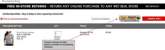 You can use Checkout By Amazon with your existing platform.