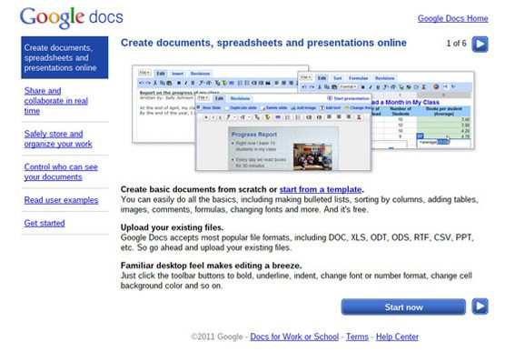 Google Docs is a full office suite for the Chromebook.