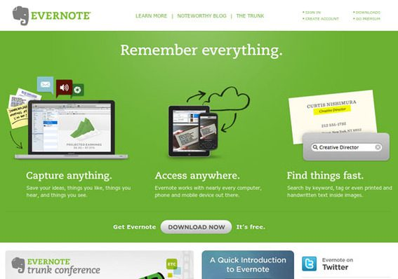 Evernote is a premiere document and image storage and organization tool.