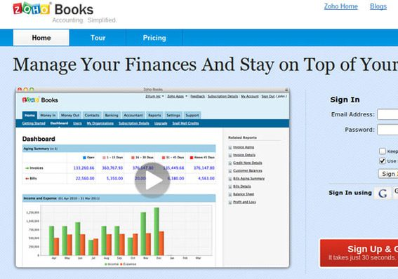 Zoho Books is a simple business account tool.