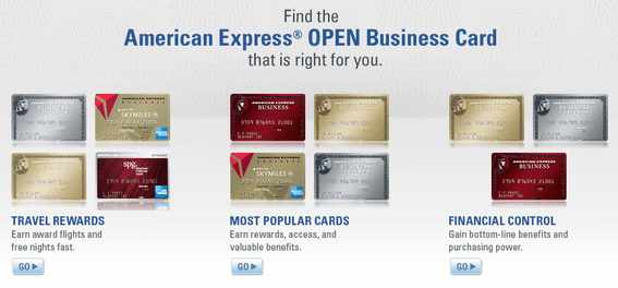 """American Express offers different cards, perks and benefits in its """"Open"""" business card promotion."""