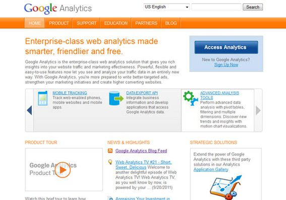 Google Analytics is an excellent solution for small businesses.