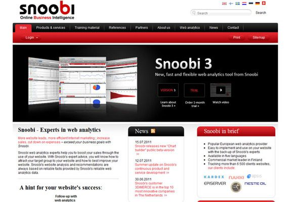 Snoobi is a well thought of web analytics solution.