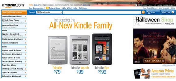 The Amazon site had grown stale and dated.