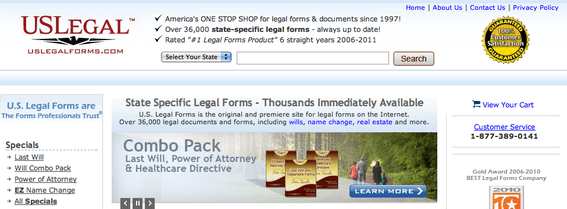 U. S. Legal Forms