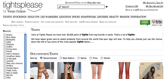 """Spelling """"Tights"""" as """"Tihgts"""" on the product detail page harmed that product's conversion rate."""