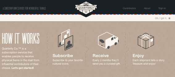 Quarterly.co offers subscriptions for specially-selected products and services.