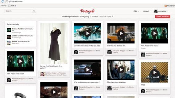 Pinterest pins are shown to the public and to followers.